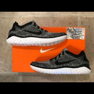 Nike Shoes - NEW Nike Free RN Flyknit 2018 Black White Air Max